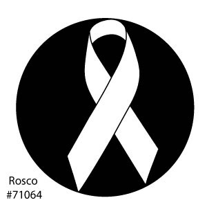 Awareness Ribbon Steel Gobo