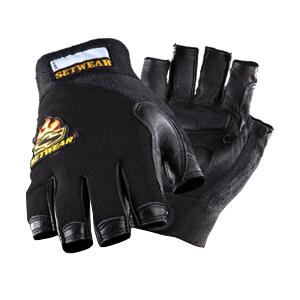 3/4 Leather Fingerless Glove - Medium
