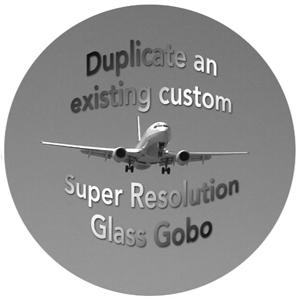 Custom Apollo B&W Super Resolution Gobo