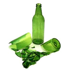 """Beer Bottle, Short Neck (7 3/4"""" High)"""