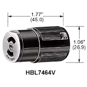 HBL7464V - Female Twist Midget 15A 125V