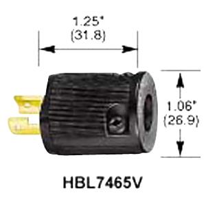 HBL7465V - Male Twist Midget 15A 125V 2W