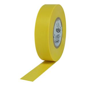 "Pro Plus Yellow Electrical Tape 3/4\""X66\'"