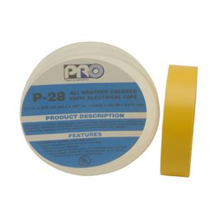 Pro P28 3/4X66ft Yellow Premium Vinyl Electrical Tape