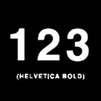 Helvetica Numbers